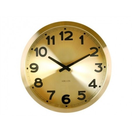 Karlsson Station Clock in Gold Finish