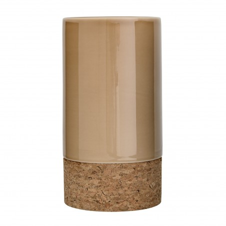 Bloomingville Glossy Beige Vase with Cork