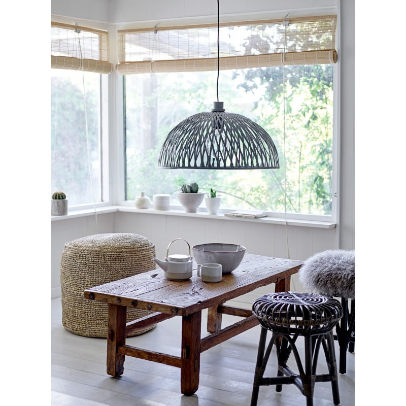 Bloomingville Rattan lamp shade in Dark grey