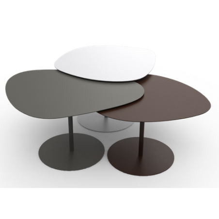 Matiere Grise Set of 3 Low Steel Tables