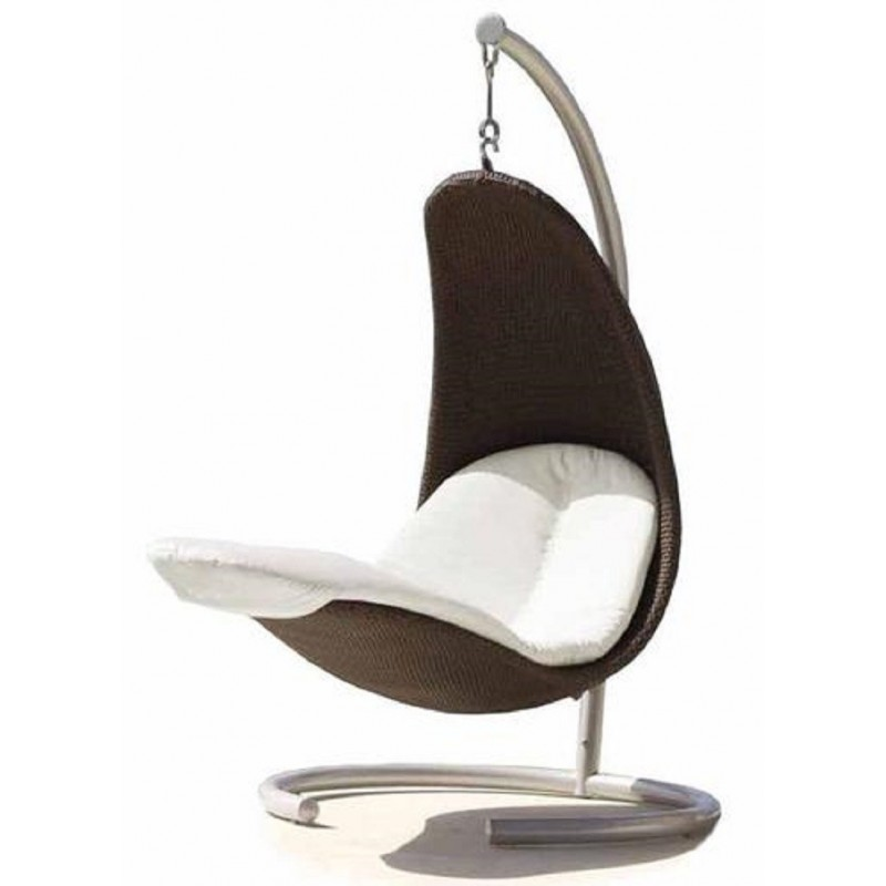 Skyline Design Cristy Hanging Chair | Chocolate| Silver