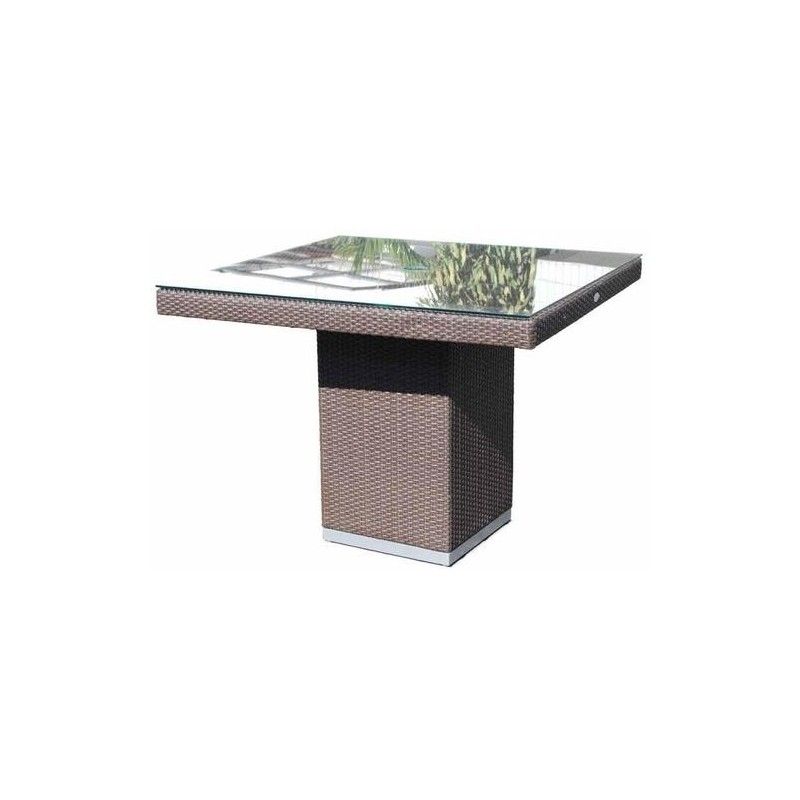 Skyline Design Pacific Dining Table With Glass Top