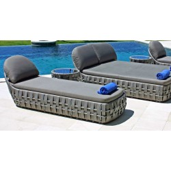 Skyline Design Strips Double Lounger