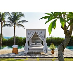 Skyline Design Strips Four Poster Outdoor Daybed