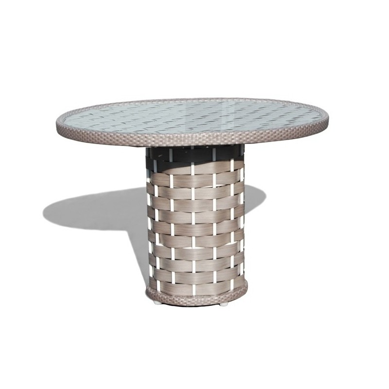Skyline Design Strips Round 4 Seat Dining Table