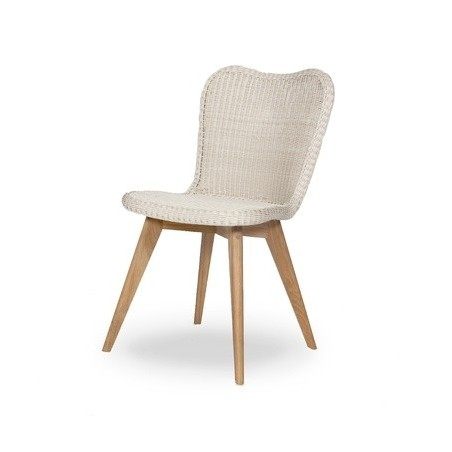 Vincent Sheppard Lena Outdoor Dining Chair Teak Base Wicker Seat