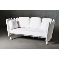 Canisse Outdoor Sofa by Serralunga   3 Seater