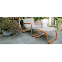 Time Out Footstool - Iroko or Steel Legs
