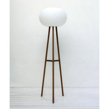 Baba Beech Floor Lamp from Serralunga