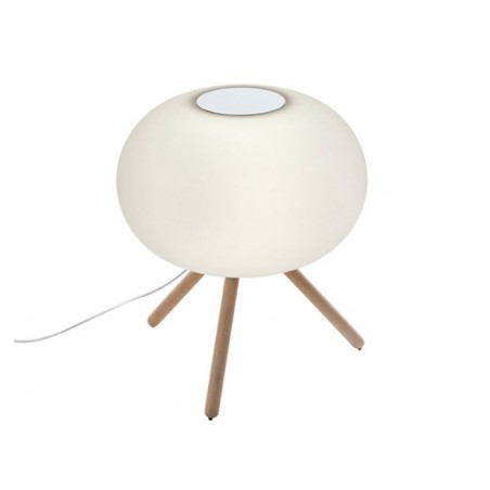 Baba Beech Petite Floor Lamp from Serralunga