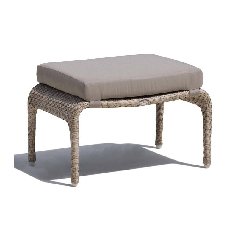 Skyline Design Journey Outdoor Ottoman with Cushion