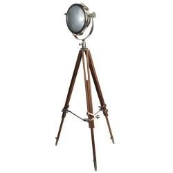 Rolls Headlamp Spot Light with Natural Wood Tripod