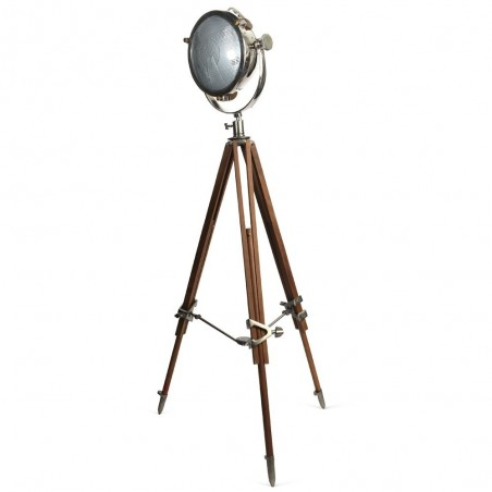 Rolls Headlamp Spot Light with Natural Wood Tripod
