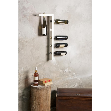 Elle Laccato Wine Bottle Wall Holder | White or Black