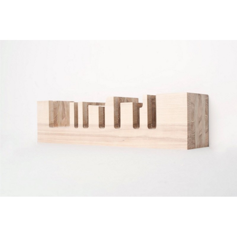 Mensola New York Skyline Oak Shelf