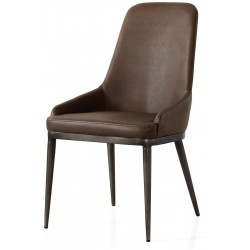 Industrial Retro Dining Chair with High Back