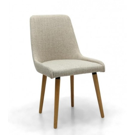 Grey Woven Fabric Dining Chair