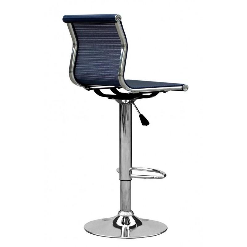 Halmstad Blue Chrome Barstool