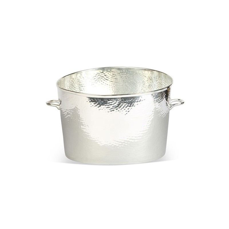 Palace Silver Plated Glass Wine Cooler