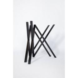 Mika Solid Oak Table Base | Optional Tops
