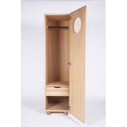 German Solid Oak Single Wardrobe | Black or White