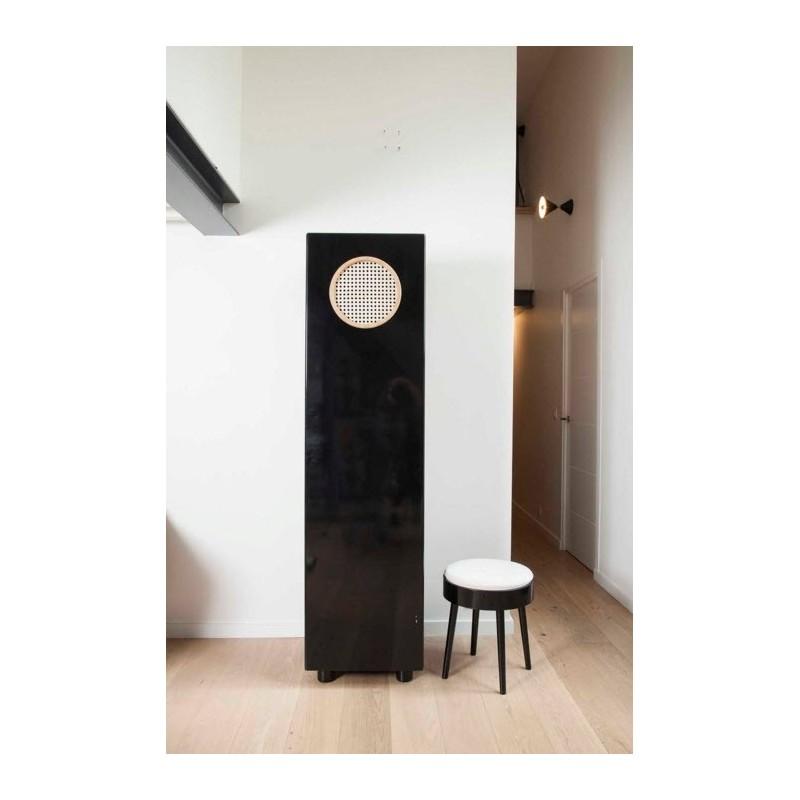 German Solid Oak Single Wardrobe   Black or White