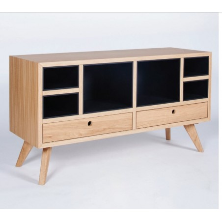 Hansen Family Oak Media Unit