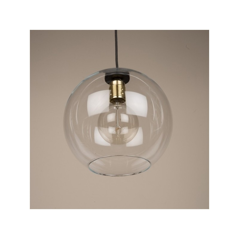 Culinary Concepts Globe Clear Glass Shade Pendant Light