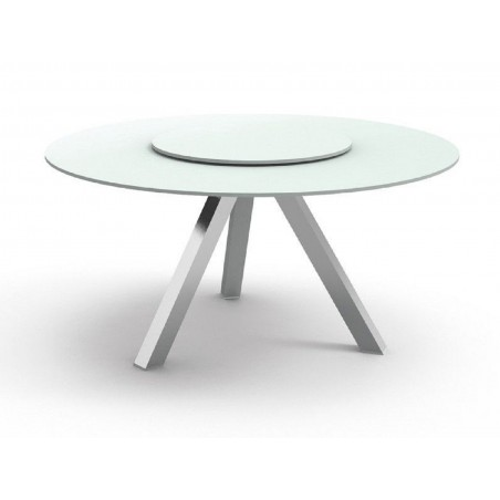 Talenti Circle Outdoor Dining Table | White | Dove