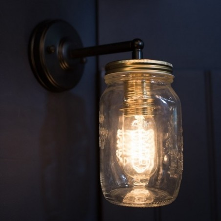 PO Single Preserve Jar Wall Light