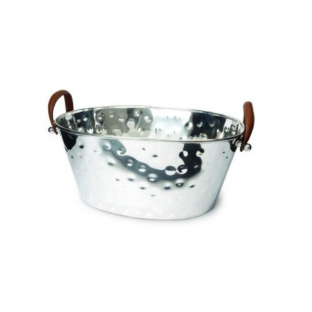 Half Size Leather Handled Champagne Bath