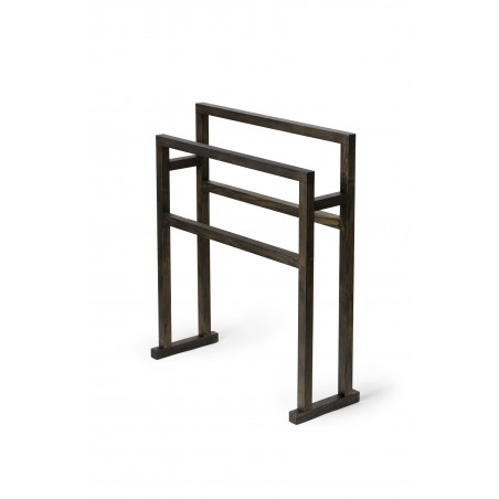 Wireworks Towel Rail Mezza Grande in Dark Oak