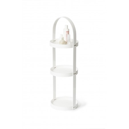 Wireworks Round Caddy 3 Tray Mezza in White Gloss