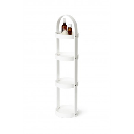 Wireworks Round Caddy 4 Tray Mezza in White Gloss