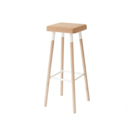 Ubikubi Marco Barstool | Beech and Steel - 80CM - 6 Colours