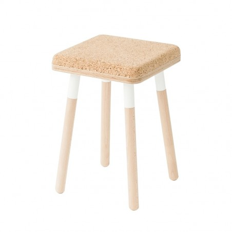Ubikubi Marco Small Black Beech Wood Stool - 45CM