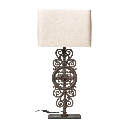 Large Caravaggio Metalwork Table Lamp Black Shade