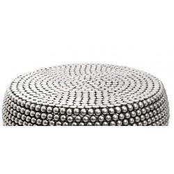 Round Beaded Iron Coffee Table
