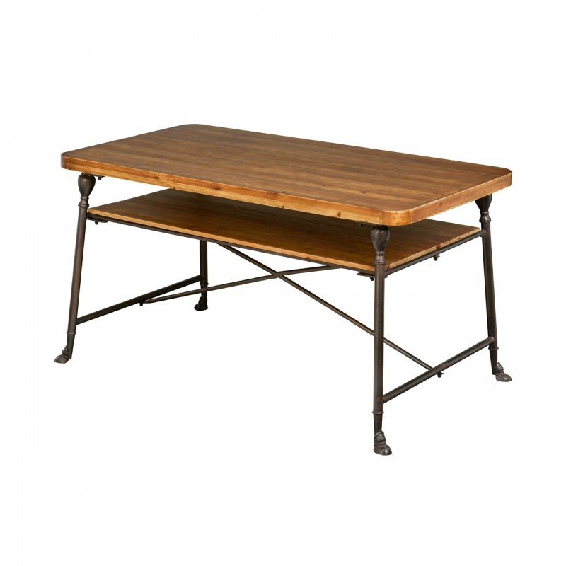 Artisan Kitchen / Dining Table with Under-Table