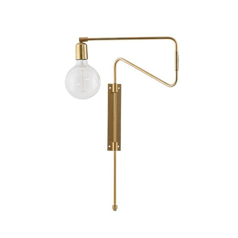 House Doctor Brass Table Lamp | White Inner Shade