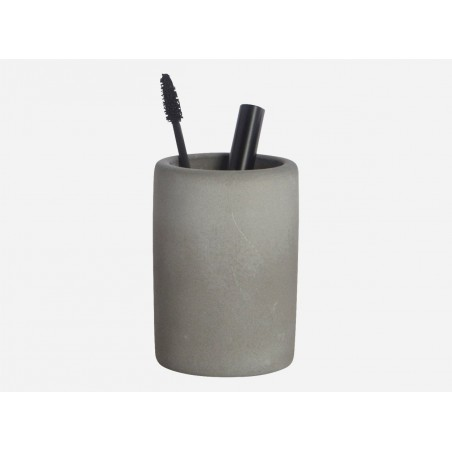 Cement Bathroom Tumbler from House Doctor