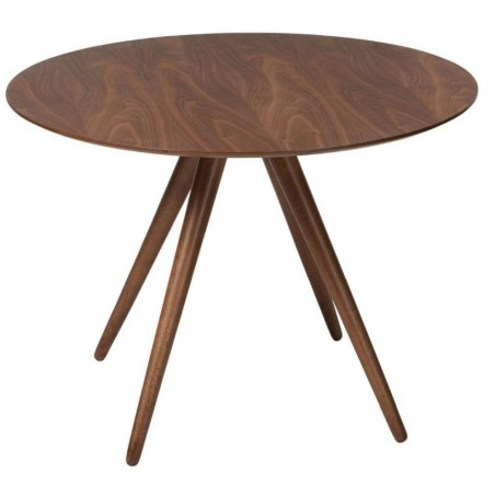 Danish Pheno Round Walnut Dining Table | 106cm Dia