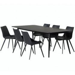 Danish Pheno Black Ash Dining Table | 220cm