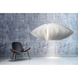 Twist White Pendant Lamp Shade Norla Design