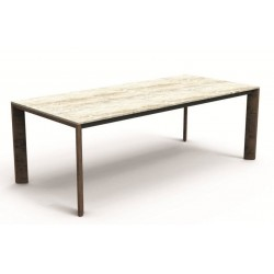 Talenti Cleo Outdoor Carrara Marble Dining Table