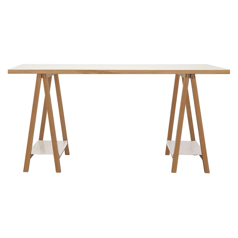 Highbury Oak and Metal Trestle Table