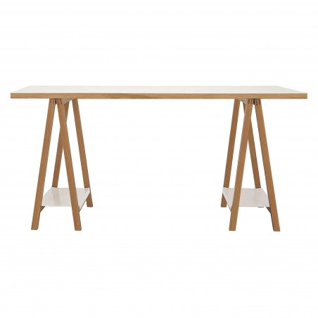Highbury Oak and Metal Trestle Table