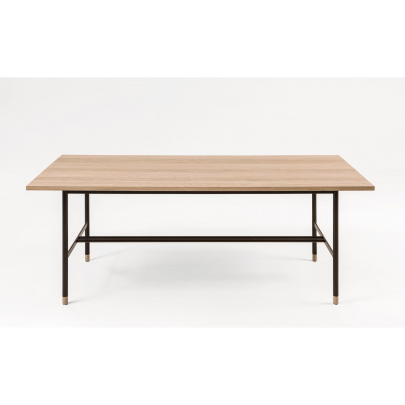 Jugend Salt Oak and Black Dining Table