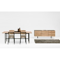 Jugend Sideboard | Oak Tipped Black Steel Legs