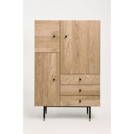 Jugend Highboard | Oak Tipped Black Steel Legs